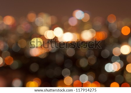 Abstract circular bokeh lights background of Christmaslight. - stock photo