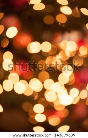 Abstract circular red and golden bokeh background