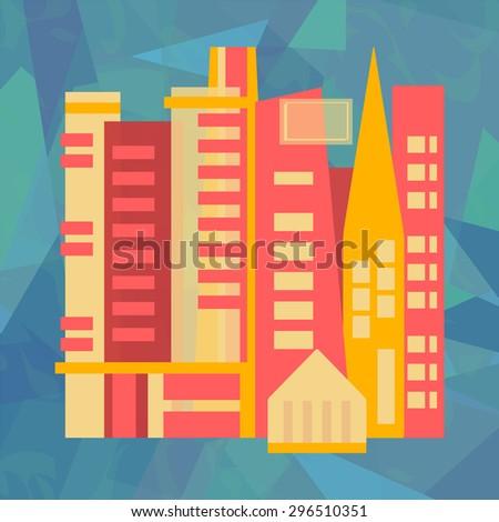 Abstract city - stock photo