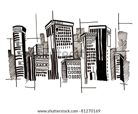 Abstract  city.architecture - stock photo