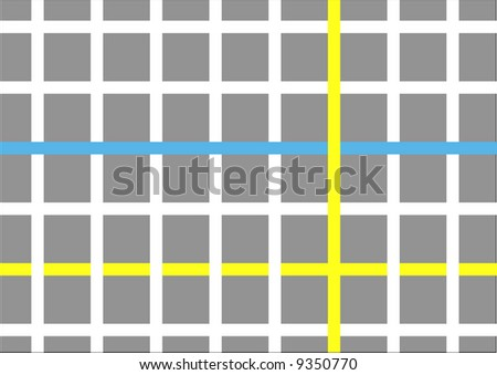 abstract city grid map - stock photo