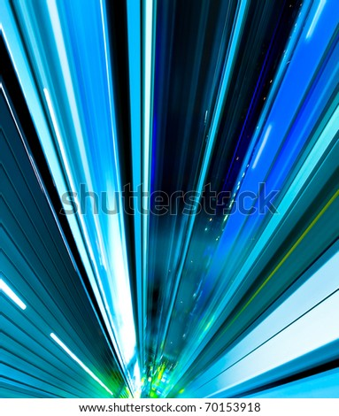 abstract city motion - stock photo