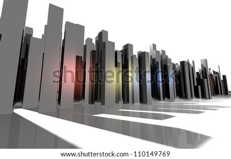 Abstract city perspective - stock photo