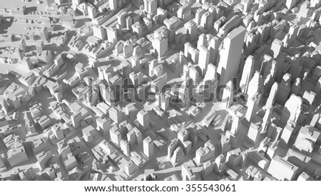 abstract city structure, background made of random buildings  - stock photo