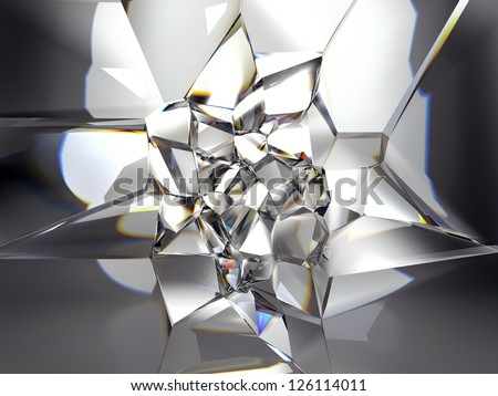 abstract clear crystal background