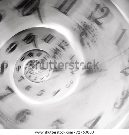 abstract clock to infinity showing a speed blur - stock photo