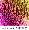 abstract close-up colorful foam background - stock photo