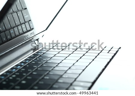 Abstract close-up laptop - stock photo