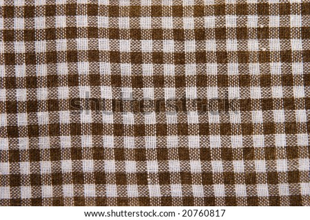 Abstract close up of checkered cotton handkerchief