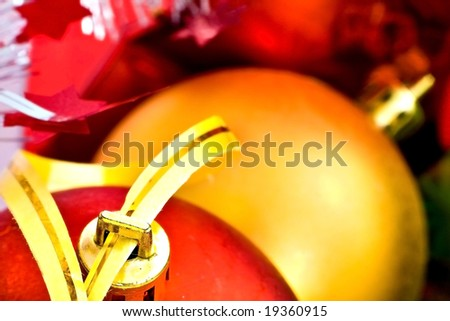 Abstract Close-up on Christmas ornaments (shallow DOF, soft focus)