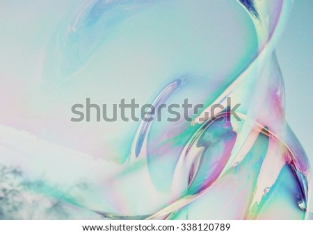 abstract close-up soap bubble background modern simple design with copy space - stock photo