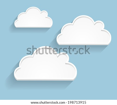 Abstract Cloud Background  Illustration. EPS 10