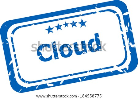 abstract cloud on stamp signs, web symbols and icons - stock photo