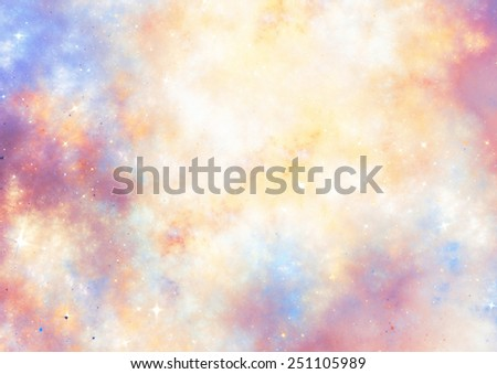 Abstract clouds. Fantasy soft color pattern. Beautiful background for wallpaper, interior, album, flyer cover, poster, booklet. Fractal artwork for creative graphic design. - stock photo