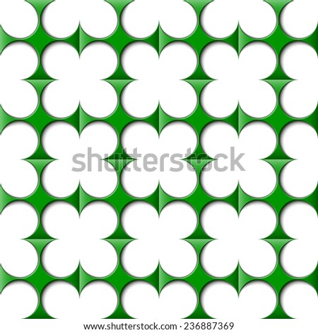 abstract clover wallpaper, seamless pattern - stock photo
