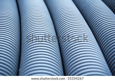 abstract cluster of hoses - stock photo