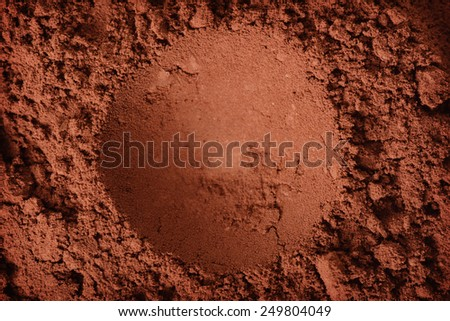 abstract cocoa powder, cocoa powder texture - stock photo