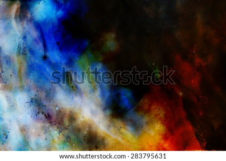 abstract color Backgrounds, painting colage with spots, rust structure. - stock photo