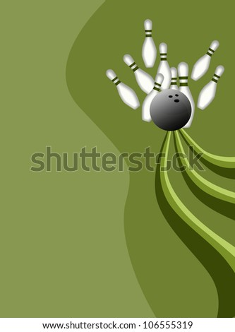 Abstract color Bowling sport background with space - stock photo