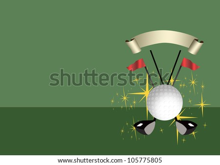 Abstract color golf sport background with space - stock photo