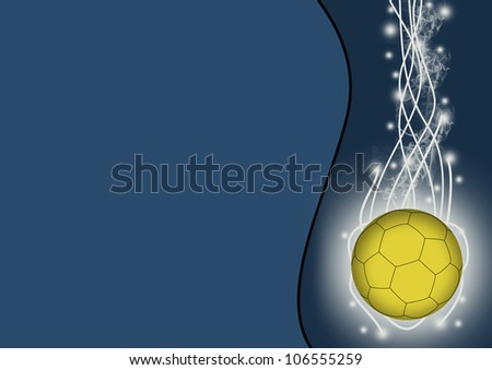Abstract color handball sport background with space - stock photo