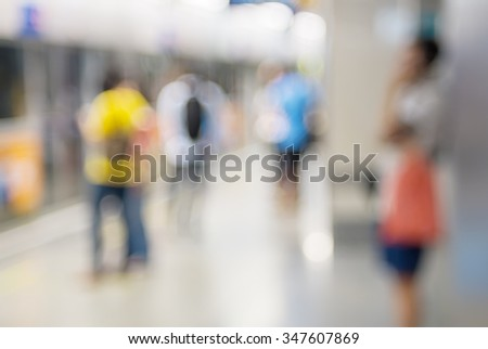 Abstract color of blured people