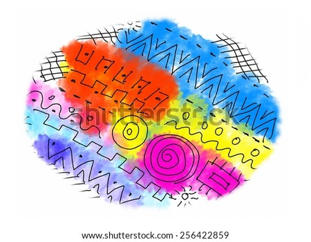 Abstract color shape texture with pattern - stock photo