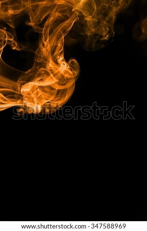 Abstract color smoke on black background, orange smoke background,orange ink background,orange smoke,Orange Smoke  Abstract Wallpaper or Background ,fire and smoke isolated on black