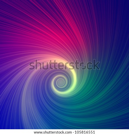 Abstract color spiral over dark background - stock photo