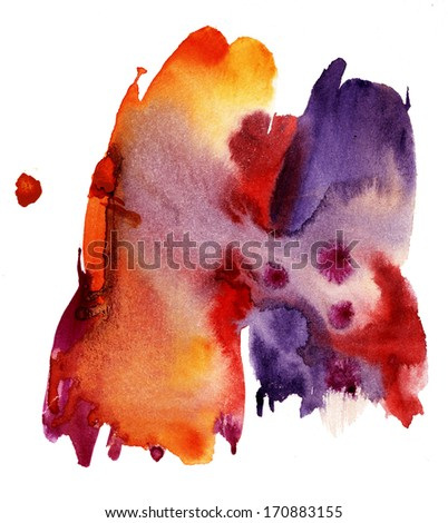 Abstract color splash background - stock photo
