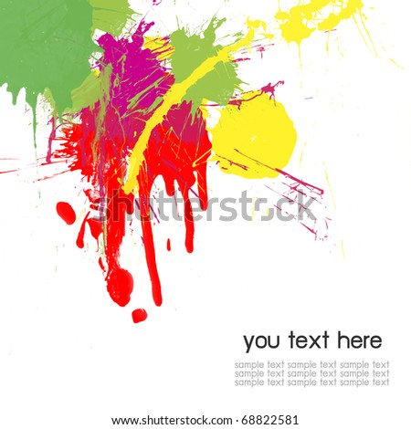 Abstract color splash color background - stock photo