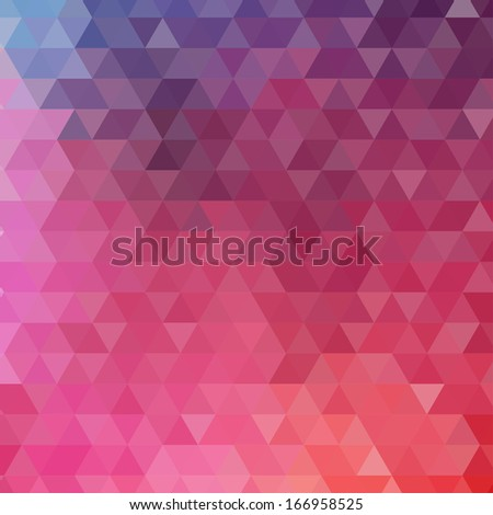 Abstract color triangle background. Illustration for you design. - stock photo