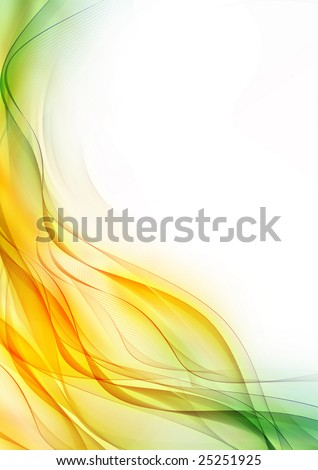 Abstract color wave