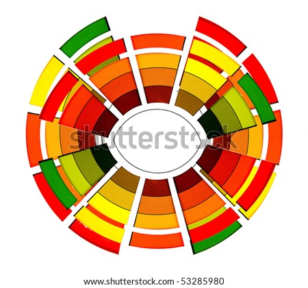 abstract color wheel on a white background - stock photo