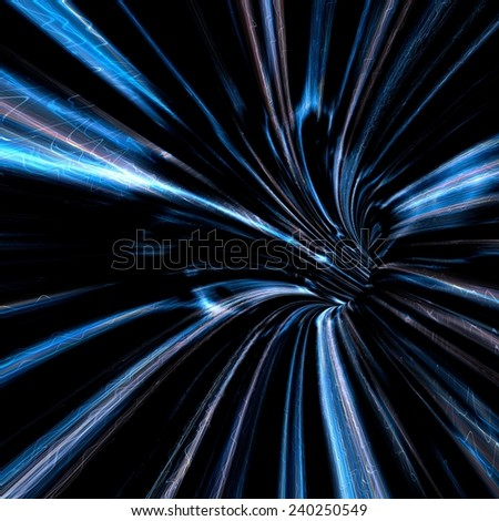 Abstract color wormhole tunnel