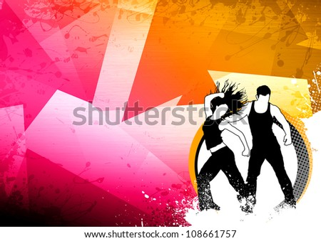 Abstract color zumba fitness dance background stock illustration abstract color zumba fitness dance background with space toneelgroepblik Choice Image