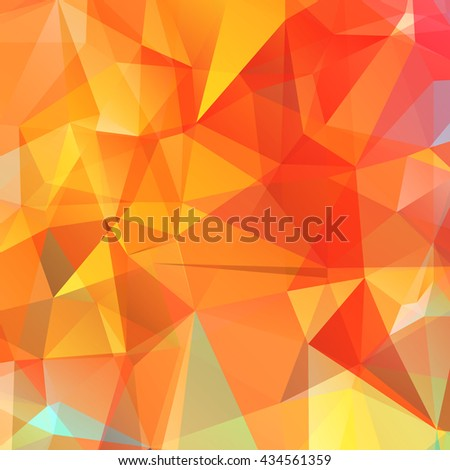 Abstract colored bright summer background, triangular geometric style - stock photo