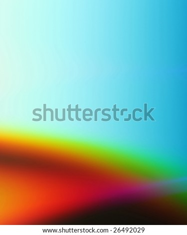 Abstract colored gradient background  in blue, red and yellow