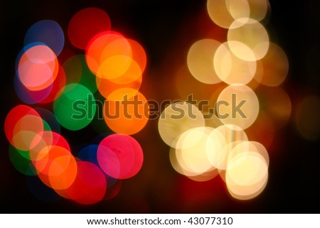 abstract colored lights