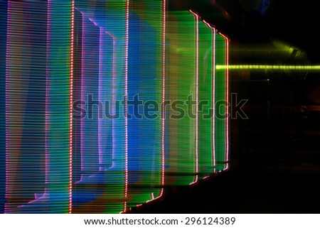 abstract colored lights motion background - stock photo