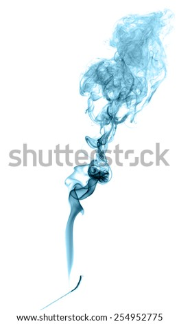 Abstract colored smoke on a light background - stock photo