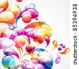 Abstract colorful arc-drop background. - stock photo