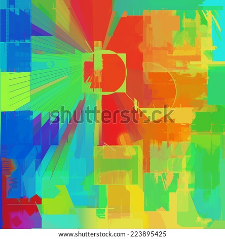Abstract colorful art background - stock photo