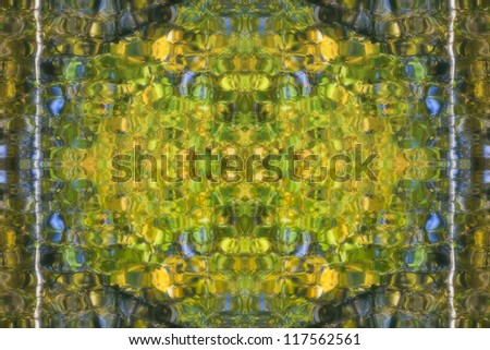 Abstract colorful background based on the reflections in the water - stock photo