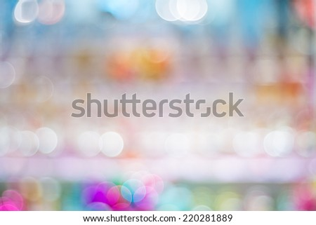 Abstract colorful background by defocus variety color of perfume bottle - stock photo