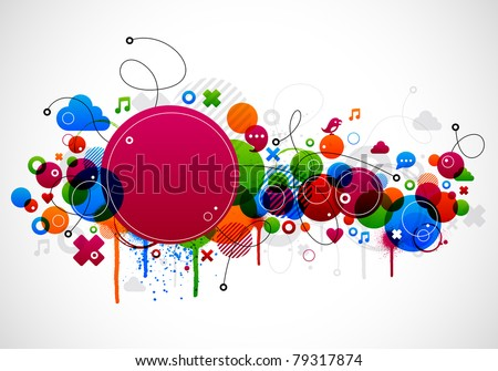 Abstract colorful background design with paint splatter