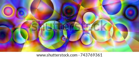 Abstract colorful background, illustration, canary