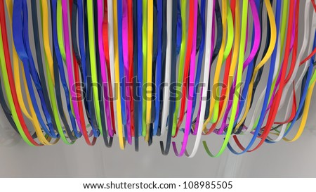 Abstract colorful background made of plastic strips
