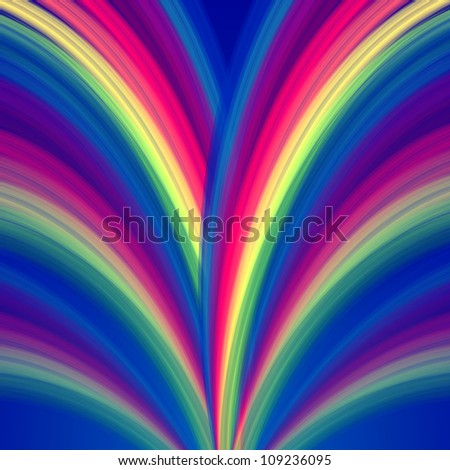 abstract colorful background  rainbow lines like fountain - stock photo