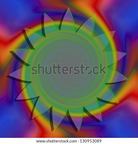 Abstract colorful background with center circle for adding text - stock photo